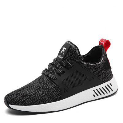Buy BLACK 42 Woven Upper Running Shoes for $32.63 in GearBest store