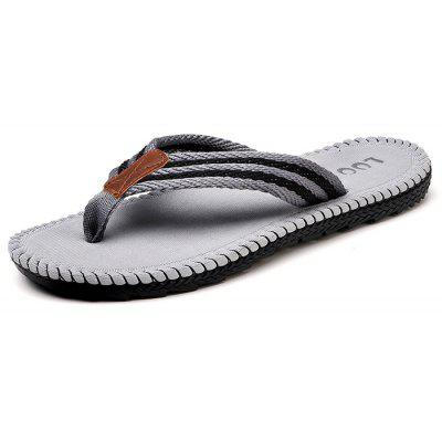 Men Striped Flip-flop Slippers