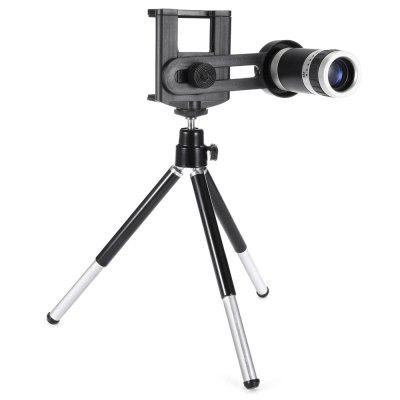 Universal 8X Zoom Telephoto LensPhone Lenses<br>Universal 8X Zoom Telephoto Lens<br><br>Lens type: Long Focal(Telephoto Lens)<br>Magnification ?Telephoto Lens ): 8X<br>Material: Optical glass<br>Package Contents: 1 x Telephoto Lens, 1 x Tripod Stand, 1 x Lanyard, 1 x Phone Holder, 2 x Cleaning Cloth, 1 x English Manual<br>Package size (L x W x H): 14.80 x 8.20 x 7.70 cm / 5.83 x 3.23 x 3.03 inches<br>Package weight: 0.2050 kg<br>Product size (L x W x H): 7.70 x 2.90 x 2.90 cm / 3.03 x 1.14 x 1.14 inches<br>Product weight: 0.0450 kg