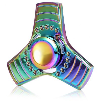 Cool Colorful Triple Rainbow Fid Spinner Stress Reliever Toy
