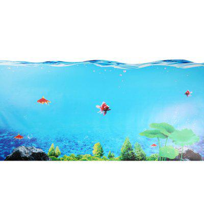 BLT - 007 3D Fish Bathroom Glass Door Sticker