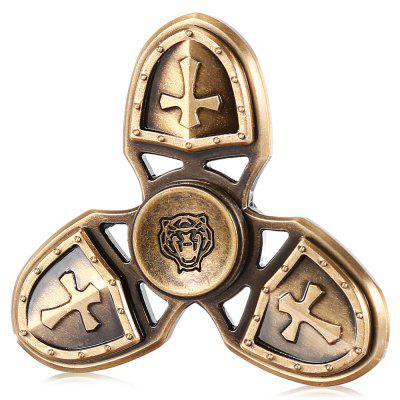 Triple Retro Copper Caesar Fidget Spinner EDC ADHD Focus Toy