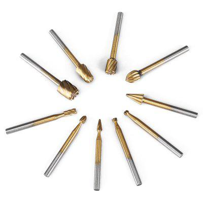 10PCS HSS Router Bits Rotary ToolsOther Tools<br>10PCS HSS Router Bits Rotary Tools<br><br>Material: High Speed Steel<br>Package Contents: 10 x HSS Router Bits Rotary Burr Tool<br>Package size (L x W x H): 5.00 x 5.00 x 1.50 cm / 1.97 x 1.97 x 0.59 inches<br>Package weight: 0.0500 kg<br>Product size (L x W x H): 3.90 x 0.50 x 0.50 cm / 1.54 x 0.2 x 0.2 inches<br>Product weight: 0.0280 kg<br>Special Functions: Router bits rotary burr tool set
