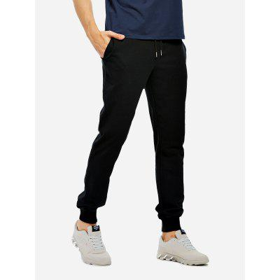 Buy BLACK M Men Cotton Heather Gray Sweatpants Joggers for $22.87 in GearBest store