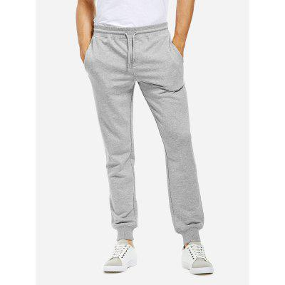 ZANSTYLE Men Cotton Heather Gray Sweatpants Joggers