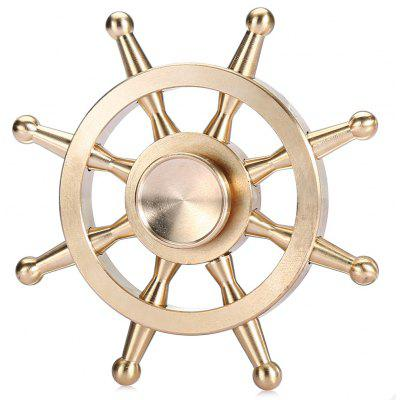 Pure Copper Ship Wheel Fid Spinner EDC ADHD Focus Toy $5 84