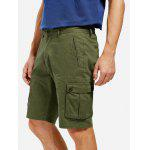 Knee Length Cargo Shorts - ARMY GREEN