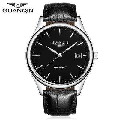 GUANQIN GJ16054 Men Auto Mechanical Wristwatch