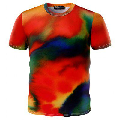 Colorful 3D Short Sleeves Men T Shirt