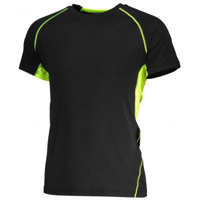 Multifuncional Fitness Pure Color T Shirt