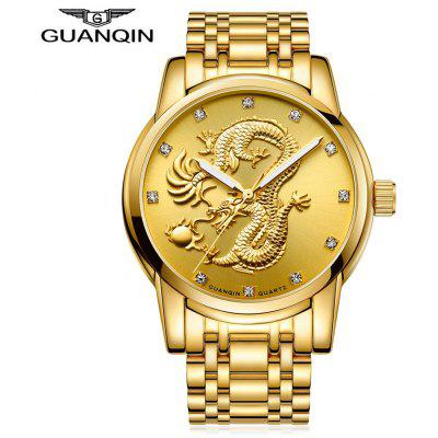 Buy GUANQIN GS19069 Men Quartz Watch, GOLDEN, Watches & Jewelry, Men's Watches for $26.99 in GearBest store