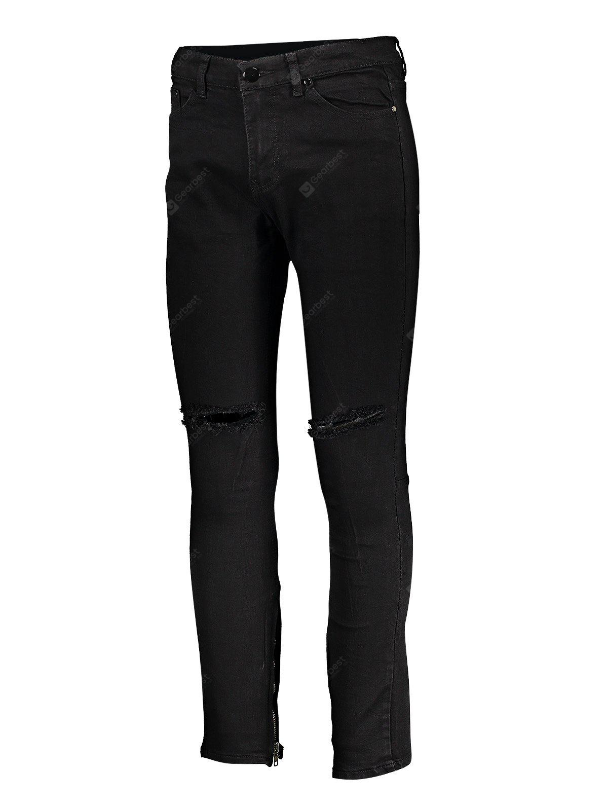 Men Skinny Jeans with Knee Rips