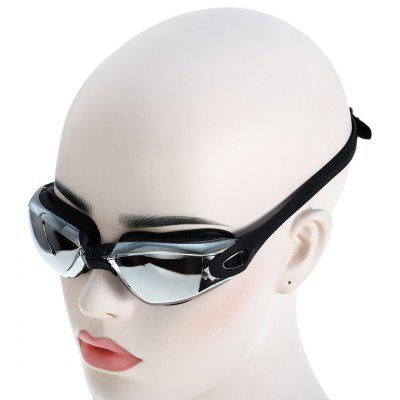 Adults Electroplated Anti-fog Silicone Swimming Glasses