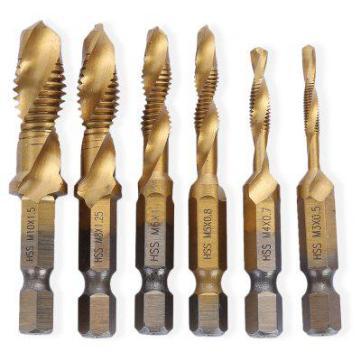 Wiertła 6 in 1 Hex Twist HSS Screw Tap Drill Set za $10.58 / ~40zł