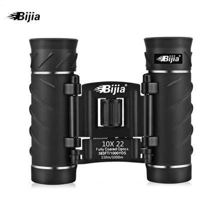 BIJIA Portabile Anti Scivolo 10 x 22mm Binoculare HD Telescopio