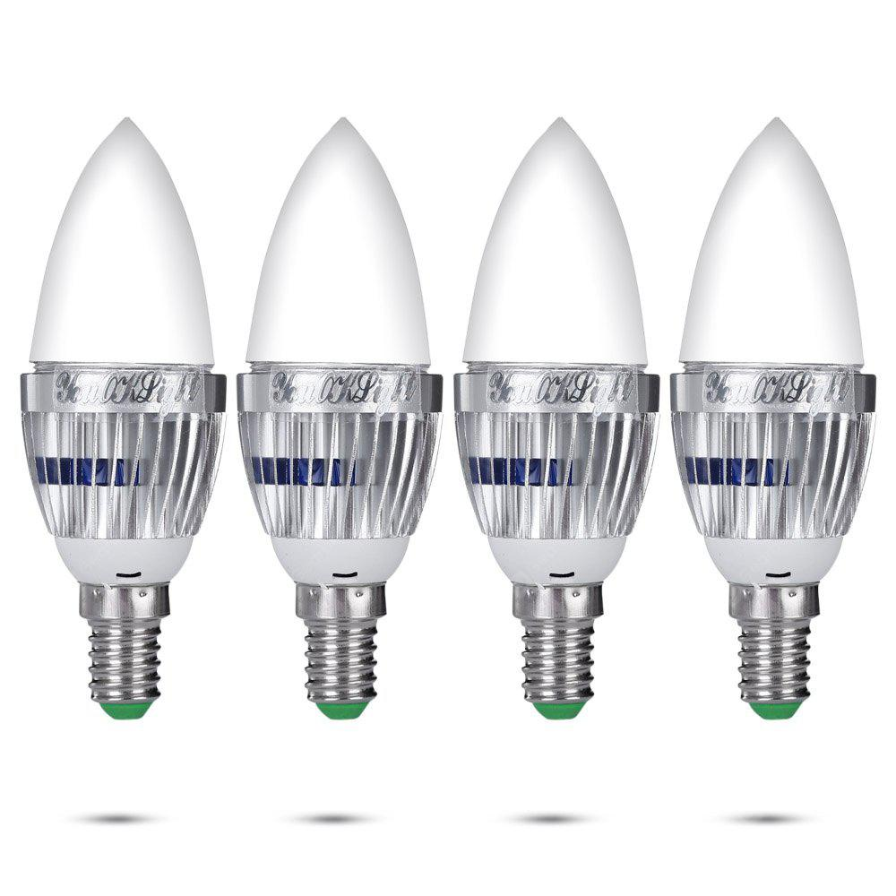 RGB 4PCS YouOKLight E14 3W Remote Controlled RGB Candle Light