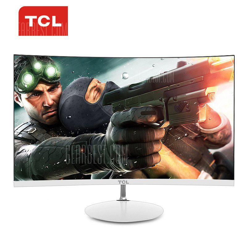 TCL T24M6C 23.6 inch Screen 1800R Curved Monitor - IVORY WHITE