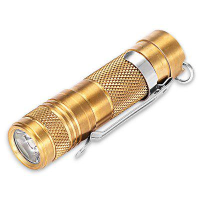 DQG Tiny AA Brass 180LM Mini LED Flashlight