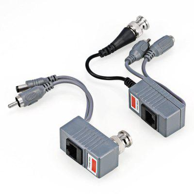 203AD Video Balun CAT5 Conector de Cable para CCTV