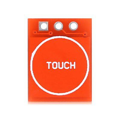 DTR - WG0097 TTP223 Capacitive Touch Self-lock Module Switch Button for ArduinoSensors<br>DTR - WG0097 TTP223 Capacitive Touch Self-lock Module Switch Button for Arduino<br><br>Package Contents: 1 x TTP223 Capacitive Touch Switch Button, 1 x Straight Pin, 1 x Curved Pin<br>Package Size(L x W x H): 8.00 x 6.00 x 0.50 cm / 3.15 x 2.36 x 0.2 inches<br>Package weight: 0.0250 kg<br>Product Size(L x W x H): 1.50 x 1.00 x 0.20 cm / 0.59 x 0.39 x 0.08 inches<br>Product weight: 0.0010 kg<br>Type: TTP223 Capacitive Touch Switch Button