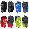 Pair of NUCKILY PC04 Half-finger Cycling Gloves with Gel Pad - BLACK