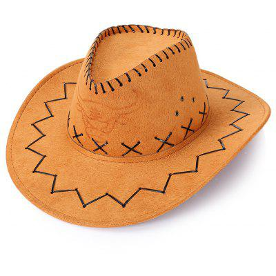 Buy BROWN Unisex Breathable Hole Cowboy Hat with Adjustable Drawcord for $6.17 in GearBest store