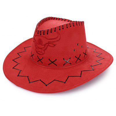 Buy RED Unisex Breathable Hole Cowboy Hat with Adjustable Drawcord for $7.18 in GearBest store