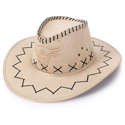 Buy OFF-WHITE Unisex Breathable Hole Cowboy Hat with Adjustable Drawcord for $5.32 in GearBest store