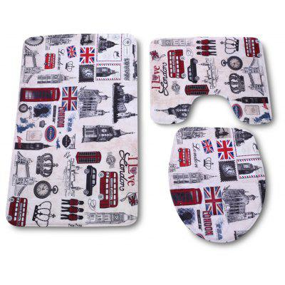 Bathroom Toilet Rug Mat Set