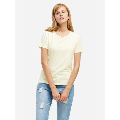 Crew Neck White T Shirt for Women