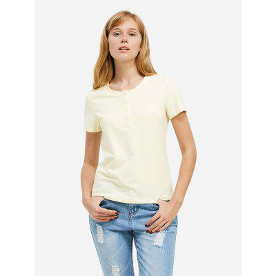 Women Crew Neck Light Blue Tee