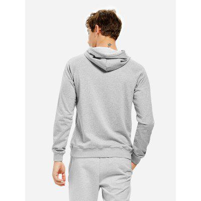 Light Gray Hoodie for MenMens Hoodies &amp; Sweatshirts<br>Light Gray Hoodie for Men<br><br>Package Content: 1 x ZANSTYLE Men Hoodie<br>Package size: 40.00 x 30.00 x 2.00 cm / 15.75 x 11.81 x 0.79 inches<br>Package weight: 0.5500 kg<br>Product weight: 0.4500 kg<br>Season: Autumn, Winter