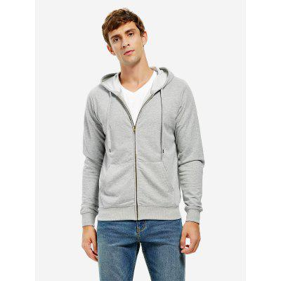 Buy Zip Black Hoodie Mens, GRAY, L, Apparel, Men's Clothing, Men's Hoodies & Sweatshirts for $23.00 in GearBest store