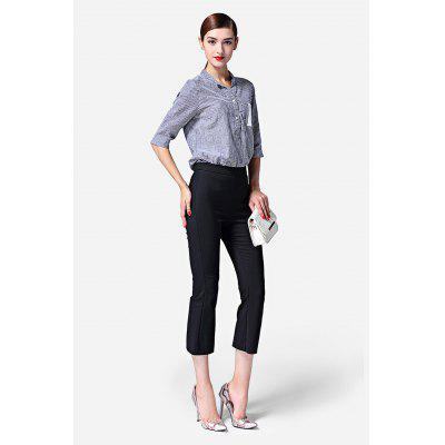 Buy BLACK Close-fitting Female Boot Cut Pants for $30.64 in GearBest store