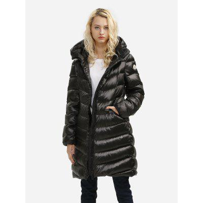 Women Black Long Down Jacket