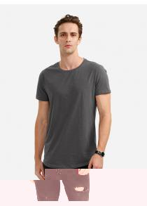 ZANSTYLE Men Crew Neck Gray T Shirt