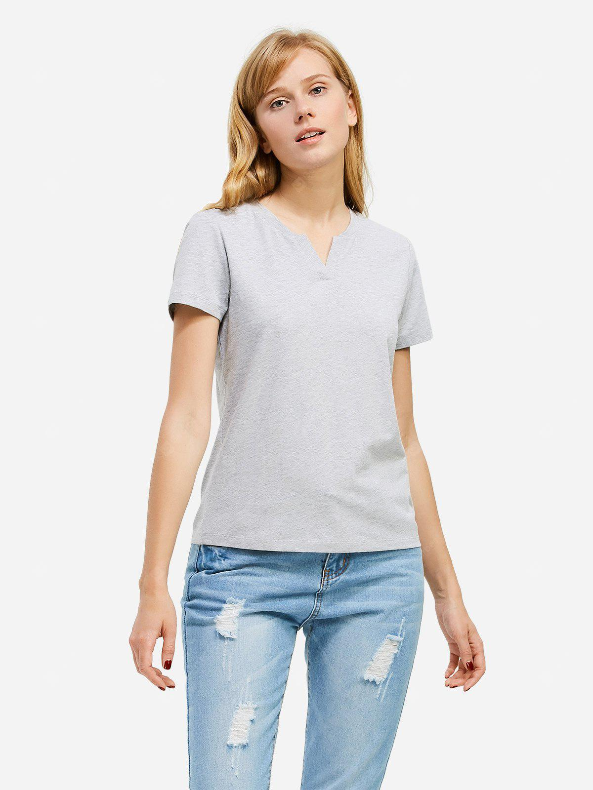 T-shirt Bianche a Collo Donna