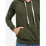 ZANSTYLE Blackish Green Hoodie for Men - BLACKISH GREEN