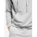 Light Gray Hoodie for Men - LIGHT GRAY