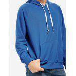 Blue Hoodie for Men - BLUE