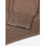 Men V Neck Coffee Knitwear - COFFEE