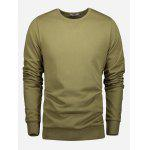 ZANSTYLE Men Crew Neck Moss Green Sweatshirt photo