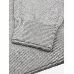 Men V Neck Gray Knitwear - GRAY