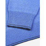 Men V Neck Blue Knitwear - BLUE