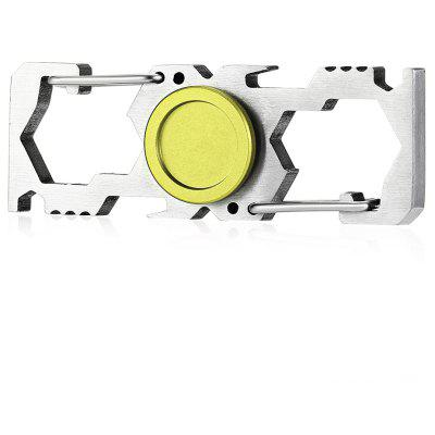 Multi-function Fidget Spinner Bottle Opener Climbing Buckle