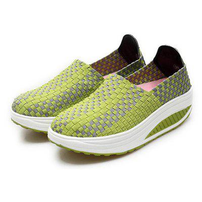 Braided Breathable Cycling Slip On Women Shoes