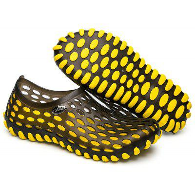 Outdoor Hollow Out Beach Slippers Women Sandals YELLOW