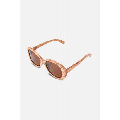 UV400 Lens Wood Frame Polarized Sunglasses