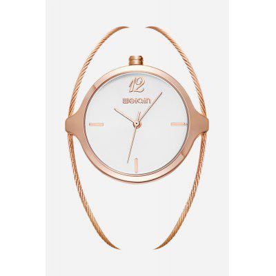 WeiQin W4836 Fashion Quartz Watch for WomenWomens Watches<br>WeiQin W4836 Fashion Quartz Watch for Women<br><br>Band material: Steel<br>Brand: Weiqin<br>Case material: Alloy<br>Clasp type: Sheet folding clasp<br>Display type: Analog<br>Movement type: Quartz watch<br>Package Contents: 1 x WeiQin W4836 Fashion Women Quartz Watch<br>Package size (L x W x H): 9.00 x 8.00 x 5.00 cm / 3.54 x 3.15 x 1.97 inches<br>Package weight: 0.0500 kg<br>Product weight: 0.0310 kg<br>Shape of the dial: Round<br>Watch color: Silver and White, Rose Gold and White, Gold and White, Gold, Rose Gold<br>Watch style: Jewellery<br>Watches categories: Female table<br>Water resistance: Life water resistant