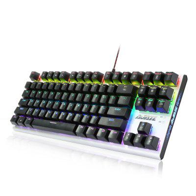 Ajazz AK40 - 87 Mechanical KeyboardKeyboards<br>Ajazz AK40 - 87 Mechanical Keyboard<br><br>Anti-ghosting Number: 87<br>Bluetooth Version: Not Supported<br>Brand: Ajazz<br>Cable Length (m): 1.8m<br>Connection: Wired<br>Features: Cool<br>Interface: USB 2.0<br>Key Number: 87<br>Keyboard Lifespan ( times): 50 million<br>Keyboard Type: Mechanical Keyboard<br>Material: ABS<br>Model: AK40 - 87<br>Package Contents: 1 x Ajazz AK40 - 87 Mechanical Keyboard, 1 x English Manual<br>Package size (L x W x H): 40.00 x 18.50 x 5.50 cm / 15.75 x 7.28 x 2.17 inches<br>Package weight: 1.0240 kg<br>Product size (L x W x H): 35.50 x 13.50 x 3.00 cm / 13.98 x 5.31 x 1.18 inches<br>Product weight: 0.7550 kg<br>Response Speed: 2ms<br>Suitable for: Computer<br>Type: Keyboard